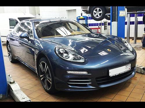 Ремонт системы охлаждения и кондиционера Porsche Panamera