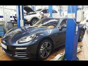 Ремонт кондиционера Porsche Panamera.