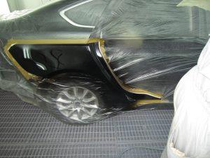 покраска заднего крыла и двери на форд мондео